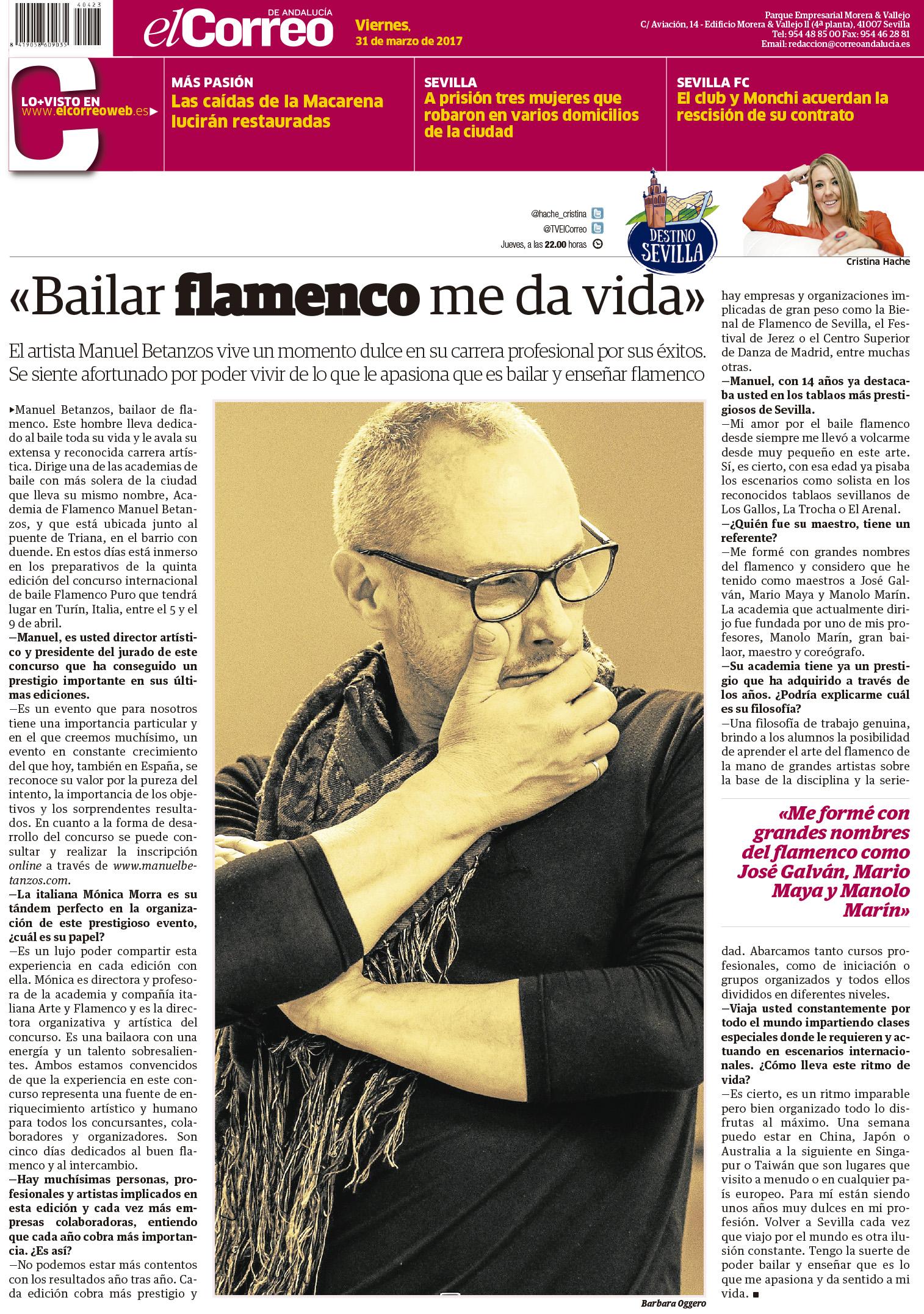 Bailar flamenco me da vida